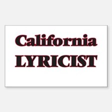 California Lyricist Decal