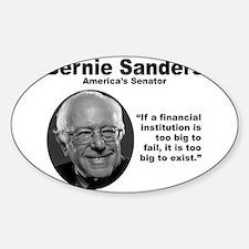 Sanders: TooBig Sticker (Oval)
