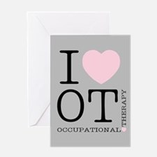 OT I Love OT Occupational Therapy Greeting Cards