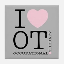 OT I Love OT Occupational Therapy Tile Coaster