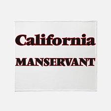 California Manservant Throw Blanket