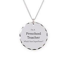 Preschool Teacher Necklace Circle Charm
