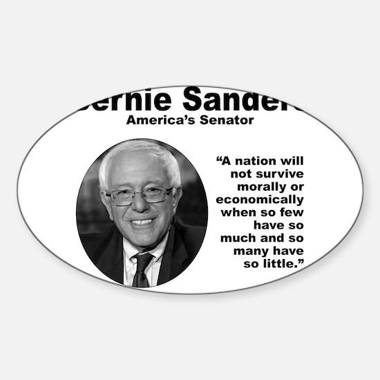 Sanders: Survive Sticker (Oval)