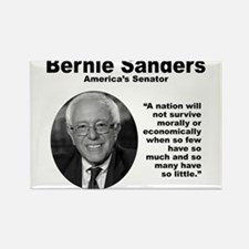 Sanders: Survive Rectangle Magnet