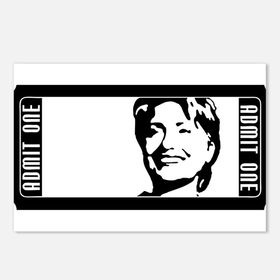 admit one hillary clinton Postcards (Package of 8)