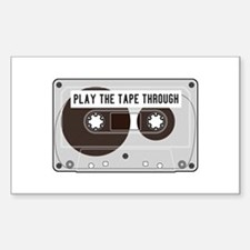 Play the Tape Decal
