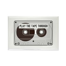 Play the Tape Rectangle Magnet