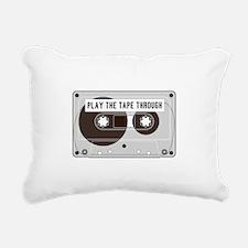 Play the Tape Rectangular Canvas Pillow