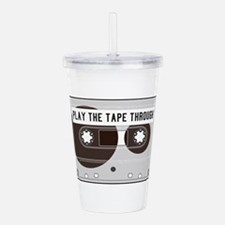 Play the Tape Acrylic Double-wall Tumbler