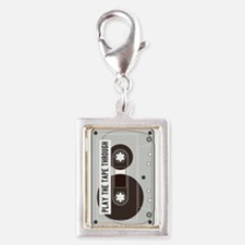 Play the Tape Silver Portrait Charm