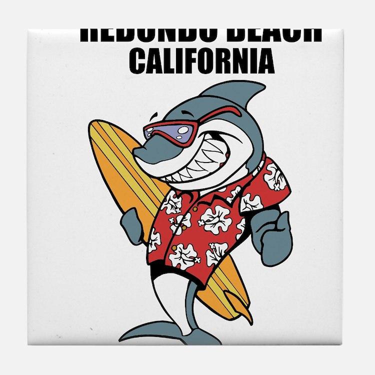 Redondo Beach, California Tile Coaster