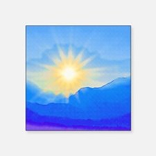 """Watercolor Sunrise Square Sticker 3"""" x 3"""""""