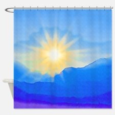 Watercolor Sunrise Shower Curtain