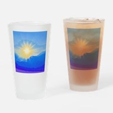 Watercolor Sunrise Drinking Glass