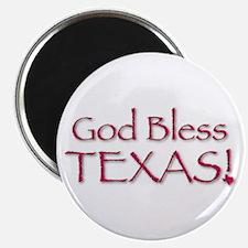 God Bless Texas! Magnet