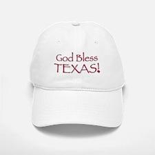 God Bless Texas! Baseball Baseball Cap