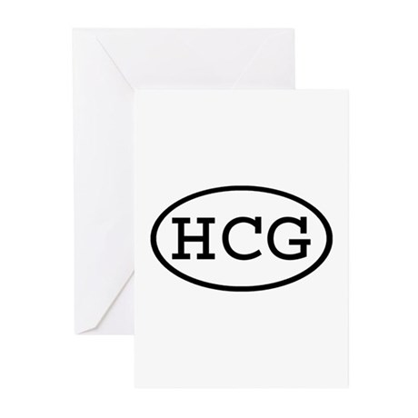 HCG Oval Greeting Cards (Pk of 20)