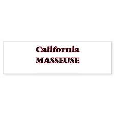 California Masseuse Bumper Bumper Sticker