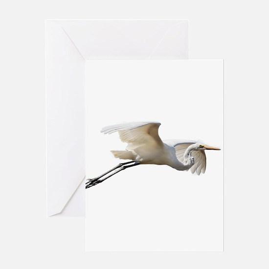 Helaine's Soaring Egret Greeting Card