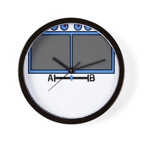 Vid Mix Blue Wall Clock