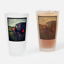 Amish Horse and Buggy Drinking Glass