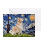 Starry Night & Golden Greeting Card