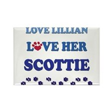 Love Lillian Love Her Scottie Rectangle Magnet (10