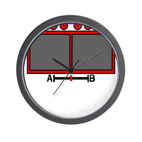 Vid Mix Red Wall Clock