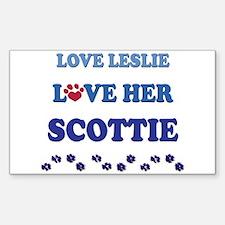 Love Leslie Love Her Scottie Rectangle Decal