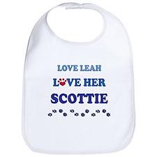 Love Leah Love Her Scottie Bib