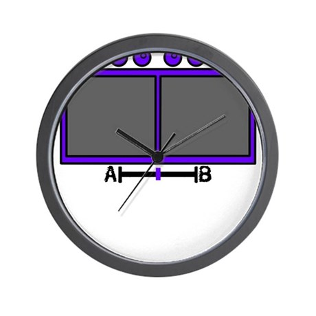 Vid Mix Purple Wall Clock