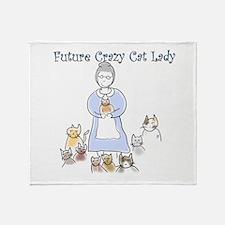 Futurecatlady.png Throw Blanket