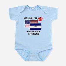 Kiss Me Im Nicaraguan American Body Suit