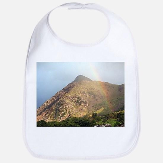 Welsh mountain and rainbow Bib