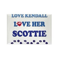 Love Kendall Love Her Scottie Rectangle Magnet