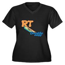 RT Respiratory Therapy Breathe E Plus Size T-Shirt