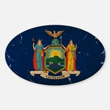 New York State Flag VINTAGE Decal