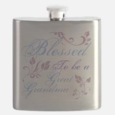 Blessed To Be A Great Grandma Flask