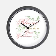 Blessed To Be A Great Grandma Wall Clock