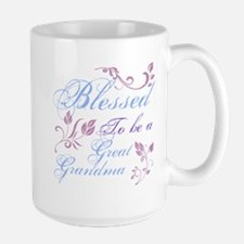 Blessed To Be A Great Grandma Large Mug