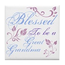 Blessed To Be A Great Grandma Tile Coaster