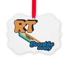 RT Respiratory Therapy Breathe Ea Picture Ornament