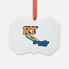RT Respiratory Therapy Breathe Ea Picture Ornament