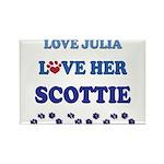 Love Julia Love Her Scottie Rectangle Magnet (100