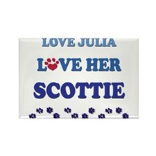 Love Julia Love Her Scottie Rectangle Magnet
