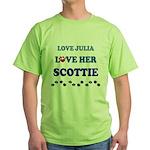 Love Julia Love Her Scottie Green T-Shirt