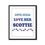 Love Julia Love Her Scottie Framed Panel Print