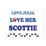 Love Julia Love Her Scottie Postcards (Package of