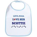 Love Julia Love Her Scottie Bib
