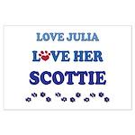 Love Julia Love Her Scottie Large Poster